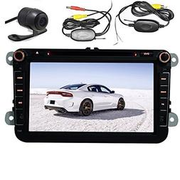 EinCar 8 Inch 2 Din Car GPS Navigation DVD Player Bluetooth