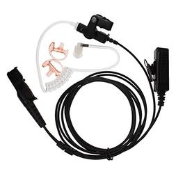 Tenq 2-wire Two-way Radio Surveillance Earpiece Kit for Moto