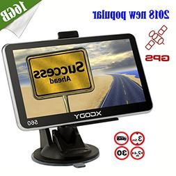 Xgody 560 5 Inch Portable Car GPS Navigation Sat Nav Touch