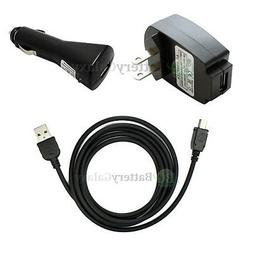 Car+AC Charger+USB Accessory Cable Cord For GPS TomTom One X