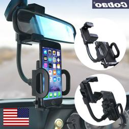 Car Rearview Mirror Mount Stand Holder Cradle For Mobile Pho