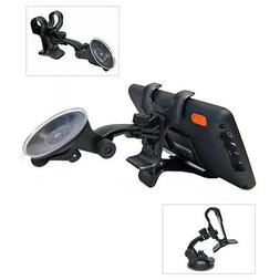 "Car Windshield Suction Mount Dual Clip Holder For 6"" TomTom"