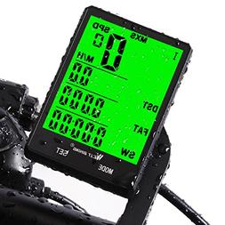 Cycle Computer, Bike Odometer Speedometer for Bicycle, Water