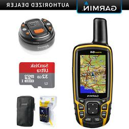 Garmin GPSMAP 64, Worldwide Handheld GPS Navigator with 32GB