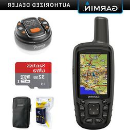 Garmin GPSMAP 64sc Handheld GPS  with 32GB Accessory Bundle