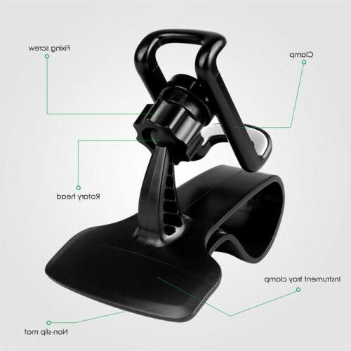 360° Rotation Car Dashboard Mount Holder Stand Clip Accessories
