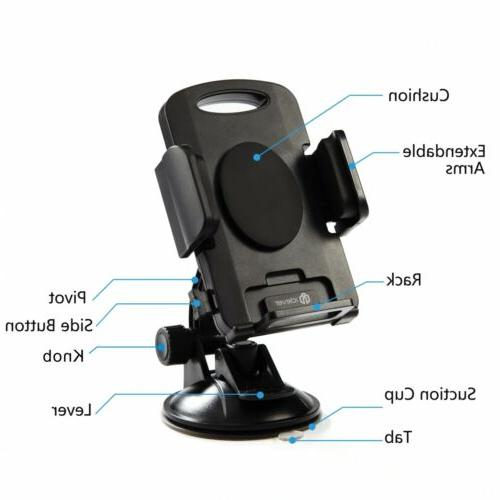 360° Universal Dashboard Cell Phone GPS Holder Stand Cradle