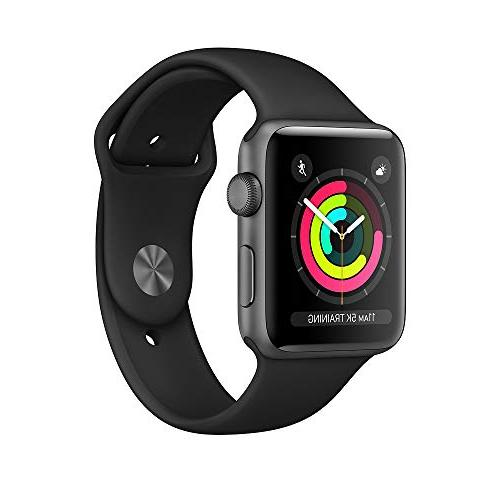 Apple Watch Series 3 , 42mm Space Gray Aluminum Case with Bl