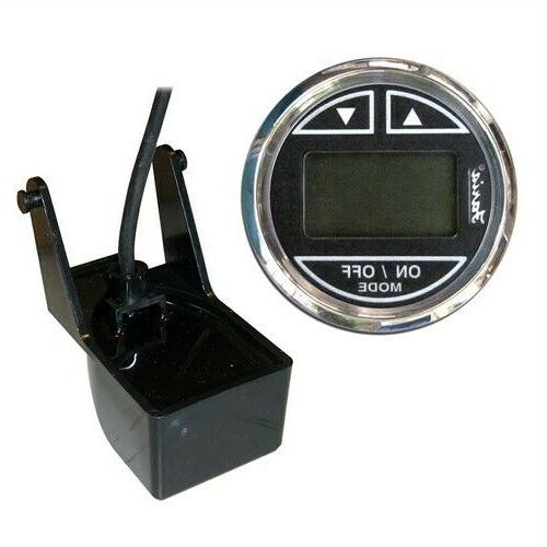 Faria 13750 Chesapeake Depth Sounder with Transom Mounted Tr