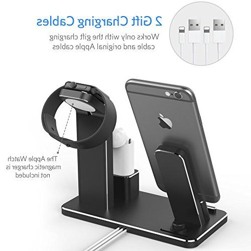 YoFeW for Apple Aluminum Charging Holder Compatible iWatch Watch 2/1/ /8 7/7 Plus