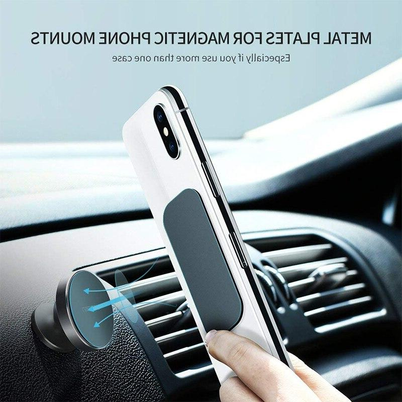 IKSNAIL Metal Sticker Magnetic Car Mount Phone Holder Stand <font><b>Accessory</b></font> Square Plate