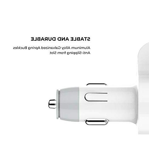Car Charger Adapter 12/24V Cigarette Lighter 3 Ports Extra Tube Compatible with iPhone Mp3