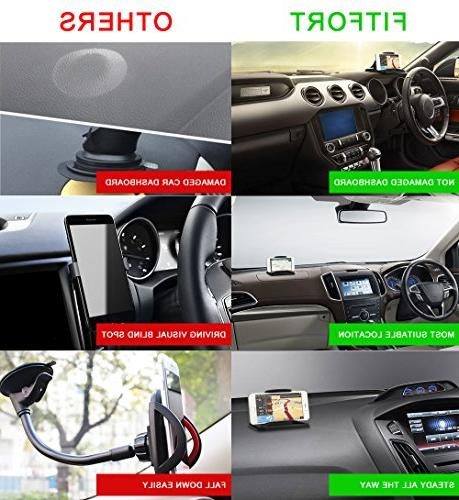 Cell Car FITFORT Silicone Car Phone Mounting Pickup GPS X 8 Plus Note 8 Plus Smartphones