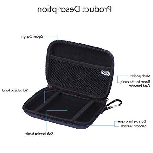 """Damp Proof 5"""" Hard Carrying Storage Case Bag for 5.1"""" 5.2"""" Tomtom Nuvi 2555LMT Magellan RoadMate Units Electronics"""