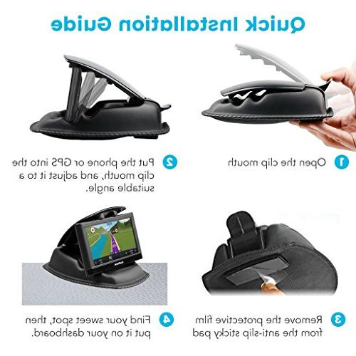 GPS APPS2Car Dashboard Mount Nonslip Friction GPS for Garmin GO Magellan & Other Inch Devices &