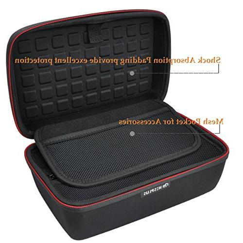 "HESPLUS Hard Shockproof Storage Travel Compatible with 6-7"" nuviCam nuvi Via Mio and Accessories"