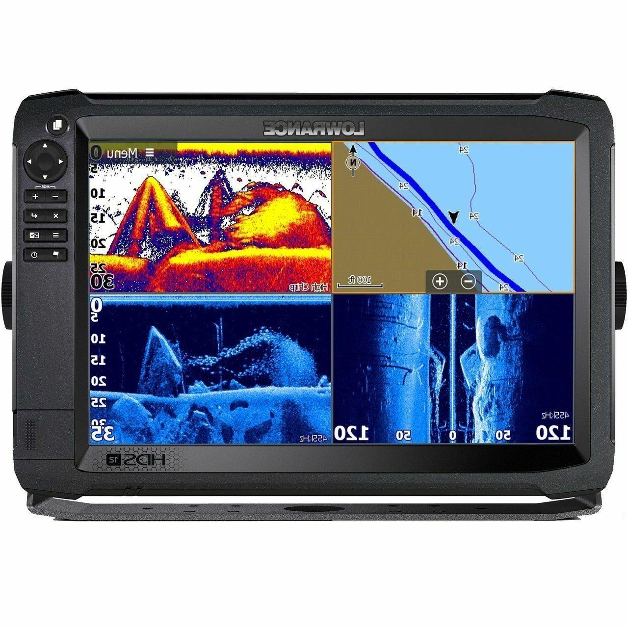 Lowrance HDS-12 Carbon Touchscreen Fishfinder Chartplotter Insight HD Pro