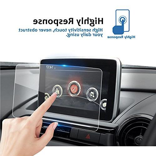 2016-2017 7-Inch MZD Navigation Screen Protector, LFOTPP Clear TEMPERED Display In-Dash Center Screen Protector