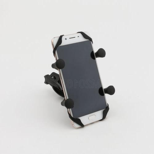 Motorcycle Handlebar Mount Holder USB Charger for Phone GPS US