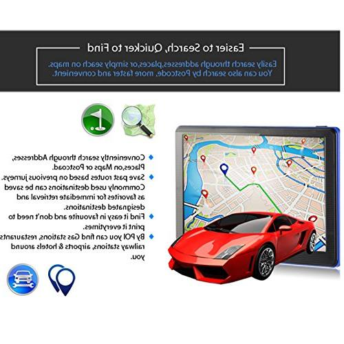 Xgody 7'' 8GB RAM Built-in ROM with Sunshade Turn-By-Turn Directions SAT GPS Updates Limit Displays