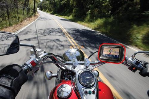 ChargerCity Screen Resistant Case Screw Motorcycle Bar Mount for Garmin Drive Assist Nuvi 56 50 2589 LMT GPS
