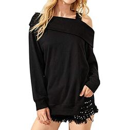 long sleeve cut shoulder solid