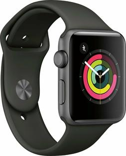New Sealed Apple Watch S3 GPS 42mm Space Gray Aluminum Case