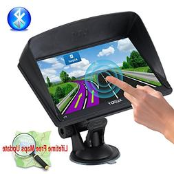 Xgody Portable Truckers GPS with Sun Shade Capacitive Touch
