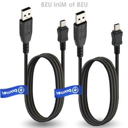 2 x pcs T-Power USB Cable Compatible with Garmin GPS Nuvi Ap