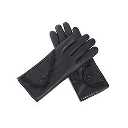 XUERUI Mittens Gloves Women TouchscreenSolid Color Soft Leat